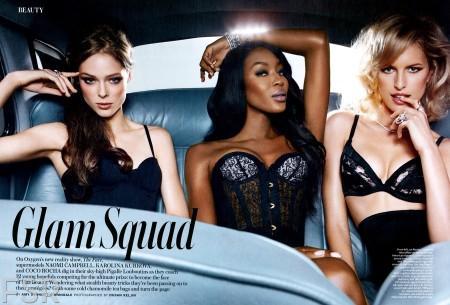 INSTYLE MARCH 2013 NAOMI CAMPBELL, COCO ROCHA AND KAROLINA KURKOVA