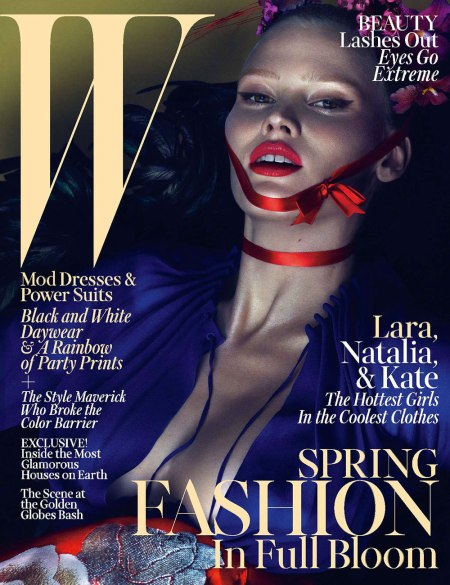 LARA STONE W MAGAZINE MARCH 2013