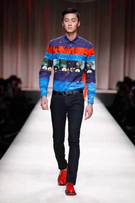 MOSCHINO SPRING SUMMER 2014 MENSWEAR COLLECTION (1)