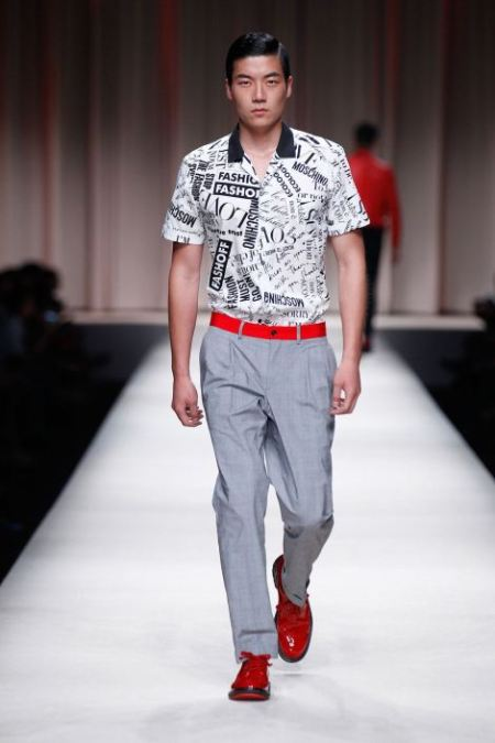 MOSCHINO SPRING SUMMER 2014 MENSWEAR COLLECTION (16)