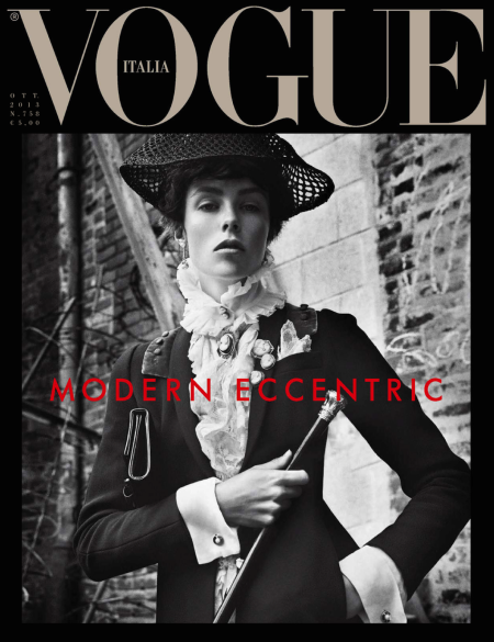 VOGUE ITALIA OCTOBER 2013 EDIE CAMPBELL, JULIA NOBIS, ASHLEIGH GOOD, ONDRIA HANDIN AND ANTONIA WESSELOH